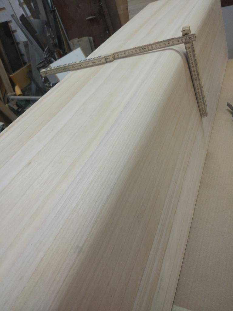 arcon de madera de paulownia canteado