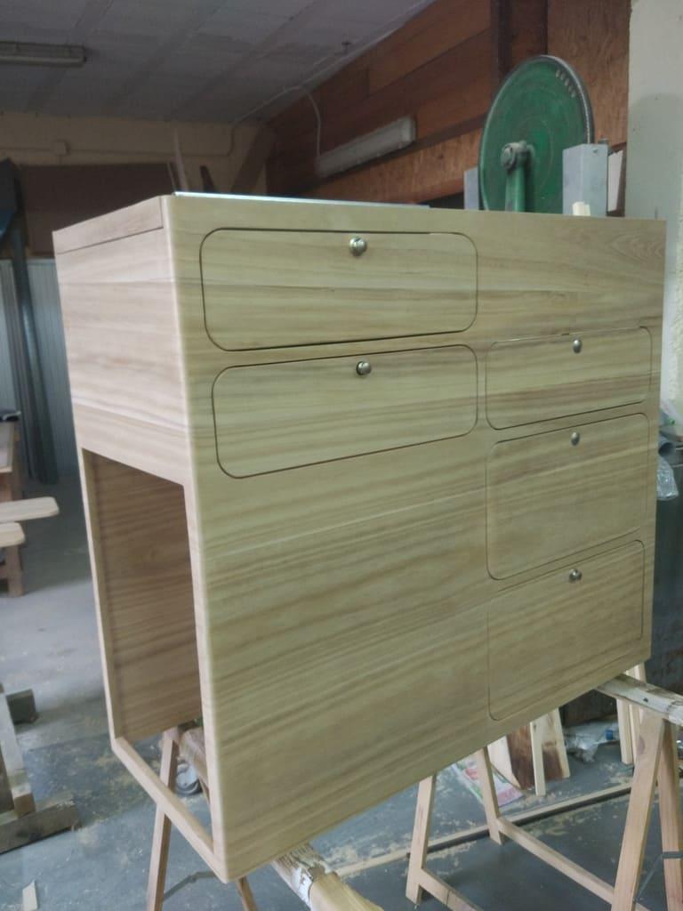 mobiliario furgoneta madera