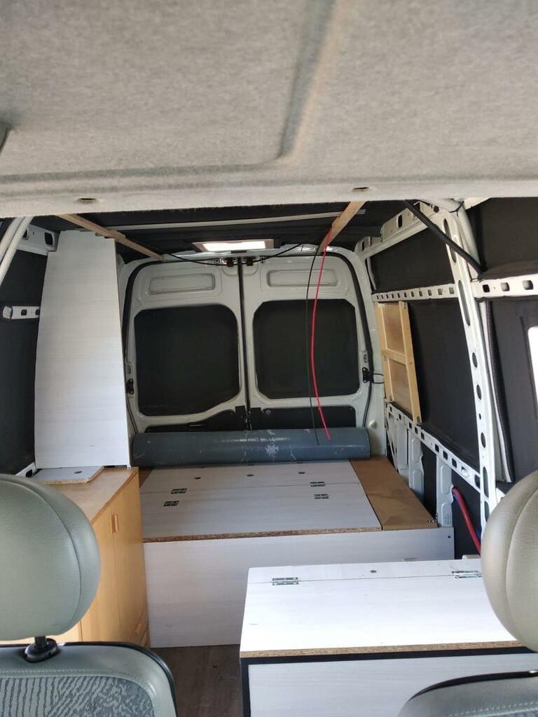 second hand van inside