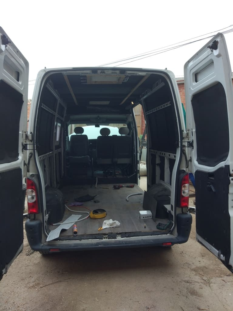 Empty van ready for campering