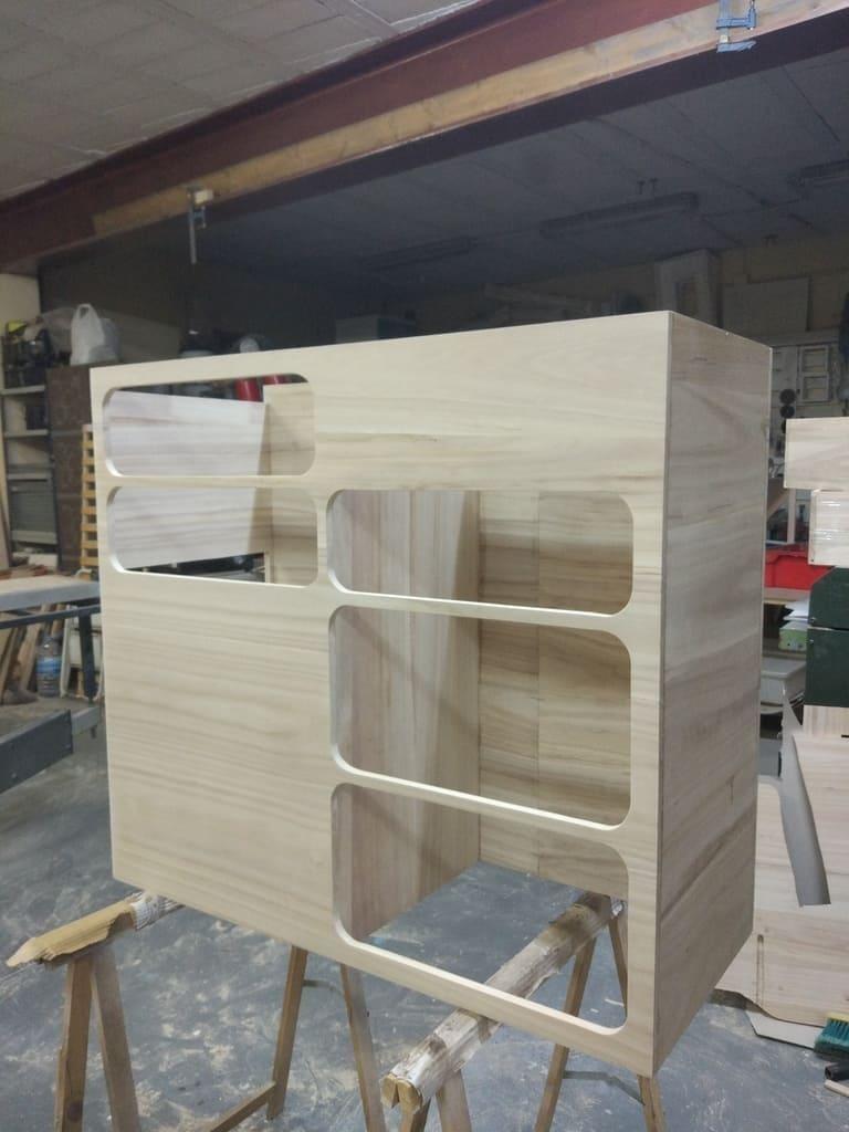 wooden kitchen van