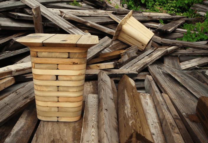 ¿Dónde se recicla la madera?
