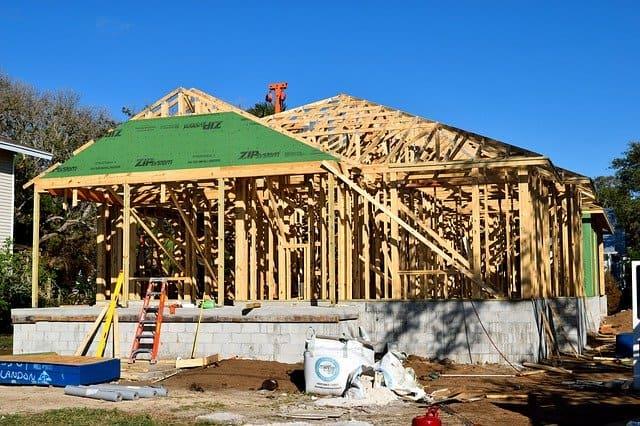 Construcción con estructura de madera