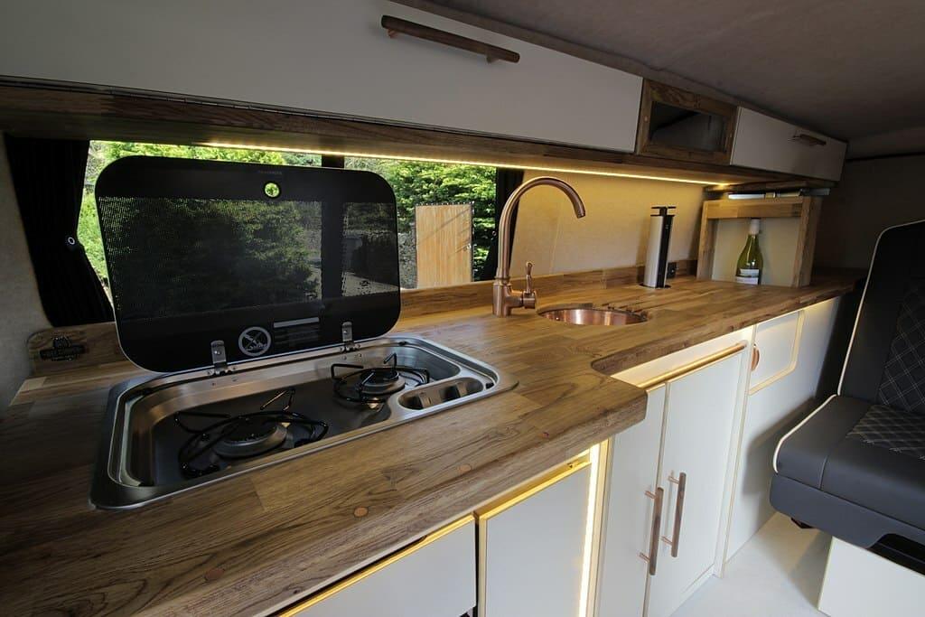 wood build van