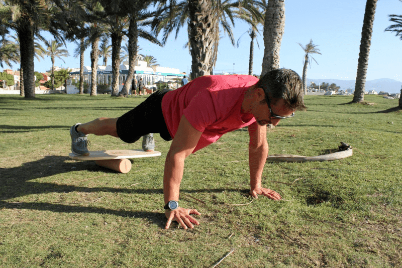 flexiones balance board